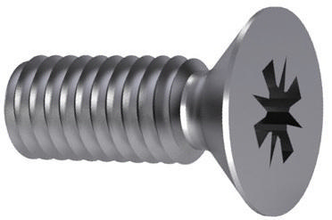 Cross recessed countersunk head screw Pozidriv DIN 965 A-Z Stainless steel A2 M4X40