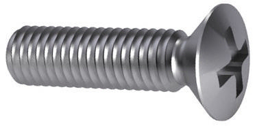 Cross recessed raised countersunk head screw DIN 966 A-H Steel Zinc plated 4.8 large pack