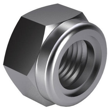 Prevailing torque type hexagon nut with non-metallic insert DIN 985 Steel Zinc plated yellow passivated |10|