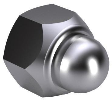 Sechskant-Sicherungshutmutter ~d986 DIN 986 Rostfreistahl A2
