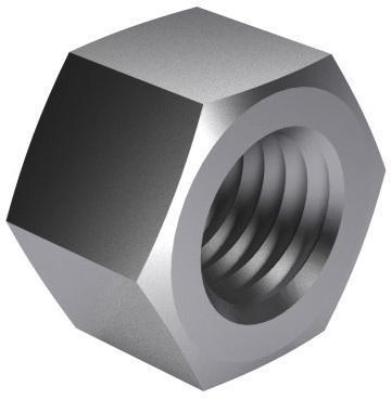 Écrou hexagonal H=1xD DIN ≈934 Acier Brut |6|