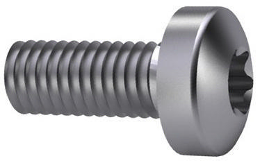 Hexalobular socket pan head screw DIN 7985-TX Steel Zinc plated 4.8