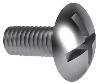 Double slotted mushroom head screw NF ≈E25-129 Steel Zinc plated 4.8 M6X12