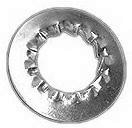Serrated lock washer with internal and external teeth NF E25-536 Spring steel Zinc plated