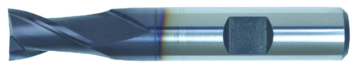 Swiss Tech Spiebaanfrees 2 snijder DIN 327 Short Cobalt HSS TiALN 10,0MM