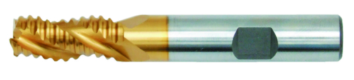 Swiss Tech Roughing end mill for aluminium 3 flute DIN 844 Regular Grube Cobalt HSS TiN 8,0MM