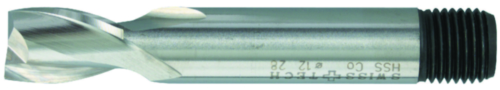 Swiss Tech Slot drill 2 flute DIN 327 Short Cobalt HSS TiALN 13,0MM