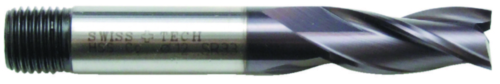 Swiss Tech Spiebaanfrees 3 snijder DIN 327 Regular Cobalt HSS TiALN 14,0MM