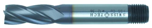 Swiss Tech Stopkové frézy 4/6  DIN 844 Regular Cobalt HSS TiCN 12,0MM