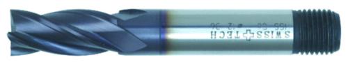 Swiss Tech Fresa de acabado 4/6 cuchillas DIN 844 Regular Cobalt HSS TiALN 6,0MM