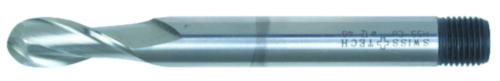 Swiss Tech Radiusfrees 2 snijder DIN 327 Long Cobalt HSS Ongecoat 8,0MM