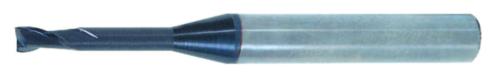 Swiss Tech Slot drill ball nose 2 flute Long Carbide AlTiN 0,6X4,0MM