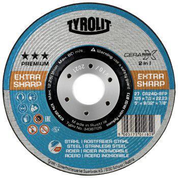 Tyrolit Deburring disc 27E CA24Q-BFP 115X7X22,23